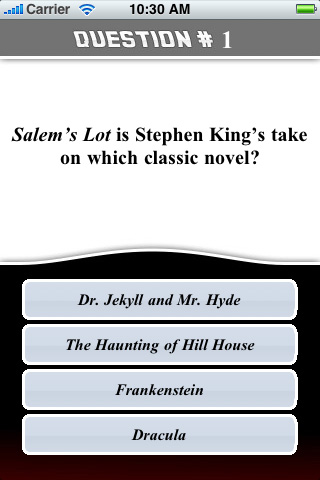 Screenshot Mega Trivia: Stephen King
